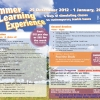 Summer Learning Experience 2012